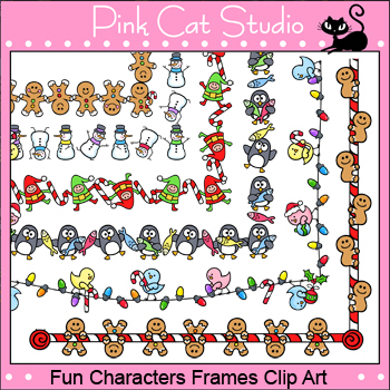 Borders - Fun Characters Winter and Christmas Frames - Commercial ...