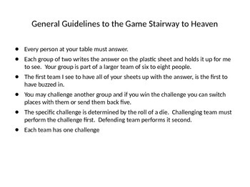 Christianity Review Game