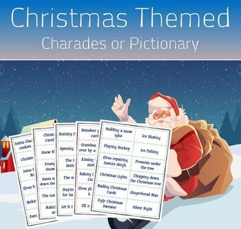 Fun Christmas Activity (Christmas Themed Charades or Pictionary)