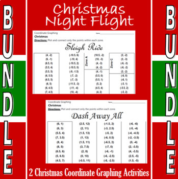 Christmas Night Flight- 2 Coordinate Graphing Activities