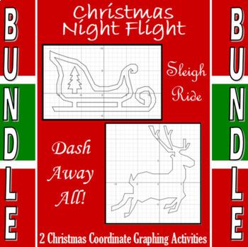 Christmas Night Flight- 2 Coordinate Graphing Activities