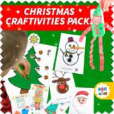Fun Christmas Craft Activities Pack for Preschool, Kinderg