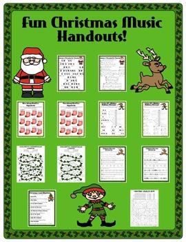 Fun Christmas Music Handouts