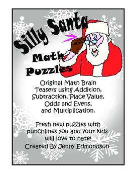 Fun Christmas Santa Math Riddles