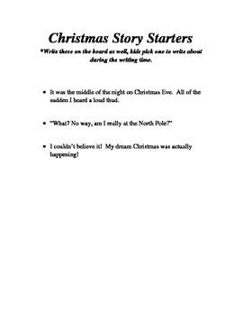 Fun Christmas Story Starters