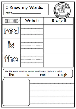 Fun Christmas Themed Stamping Activities For Kindergarten.
