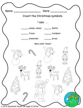 Fun Christmas Worksheets NO PREP