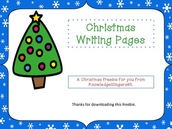 Fun Christmas Writing Pages