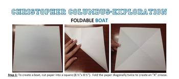 CHRISTOPHER COLUMBUS Activity Foldable *BOAT*  Exploration