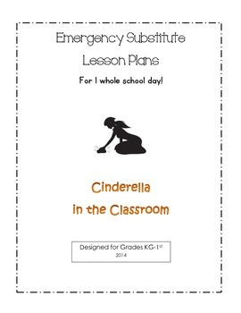 Fun Cinderella 1 Day Sub Plans! (All Core Subjects!!!)