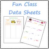 Fun Class Data Sheets