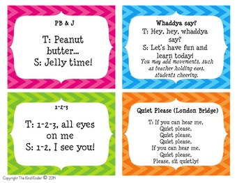 Fun Classroom Management Attention Grabbers!