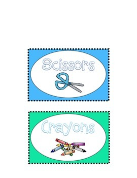 Fun Classroom Supply Labels
