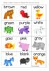 Brown Bear Color Bingo (US & Australian Spelling)