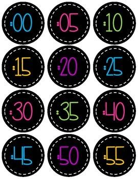 Fun Color Clock Labels