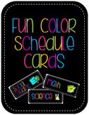Fun Color Schedule Cards