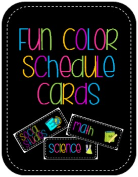 Fun Color Schedule Cards