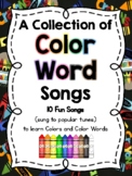 Fun Color Song Posters: Learn how to SPELL the Color Words: Letter Naming Fun