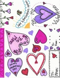 Fun Color Valentines and Clip Art
