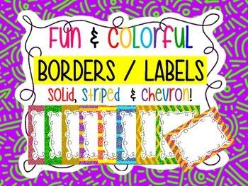 Borders and Labels - Fun design, striped, and chevron