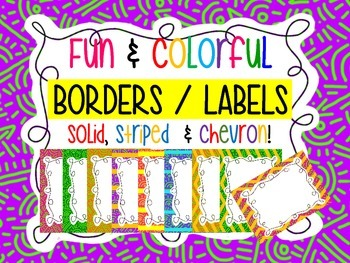 Borders and Labels - Fun design, striped, and chevron
