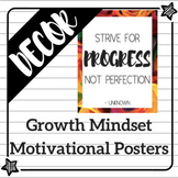 Fun & Colorful Growth Mindset Motivational Posters!