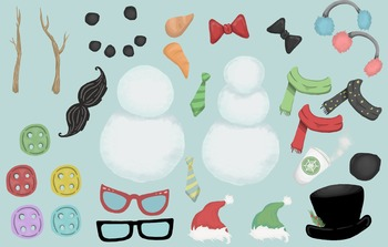 Fun, Colorful, Whimsical, Ready to Build Snowmen