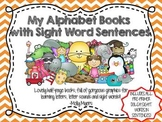 Fun Coloring Alphabet Books WITH Pre-Primer Dolch Sight Word Sentences