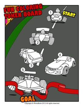 Fun Coloring Token Boards
