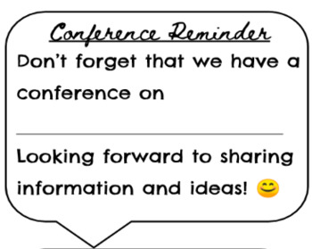 Fun Conference Reminder Speech Bubbles!