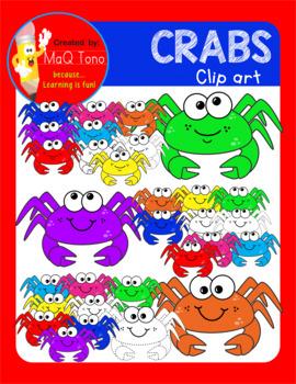 Fun Crabs Cliparts