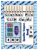 Fun Crayon Emoji Counting to 20 Math Center Clip Cards ~ They Sparkle Too