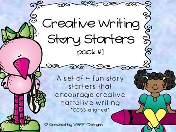 Fun Creative Writing Narrative Story Starters Packet #1-NO PREP