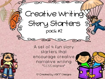 Fun Creative Writing Narrative Story Starters Packet #2-NO PREP