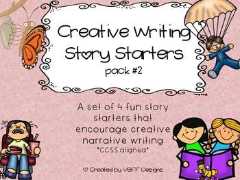 Fun Creative Writing Narrative Story Starters Packet #2-NO PREP