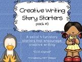 Fun Creative Writing Narrative/Opinion Story Starters Pack
