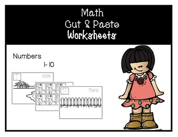 Fun Cut and Paste Worksheets Numbers 1-10