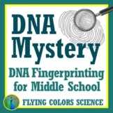 DNA Fingerprinting Forensics Mystery Activity for MIDDLE SCHOOL NGSS MS-LS3-1