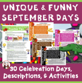Back to School September Calendar Activities