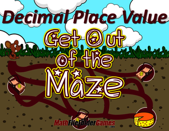 fun decimal place value worksheets mazes by mathfilefoldergames. Black Bedroom Furniture Sets. Home Design Ideas