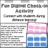 Fun Back to School Get to Know You Digital Activity During