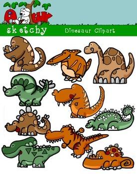 Fun Dinosaur Graphics Clipart