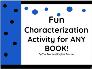 Fun Direct/Indirect Characterization Activity for Any Book!