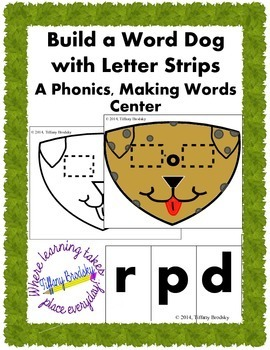 Fun Dog Build a Word Phonics, Making Words Reading Center;
