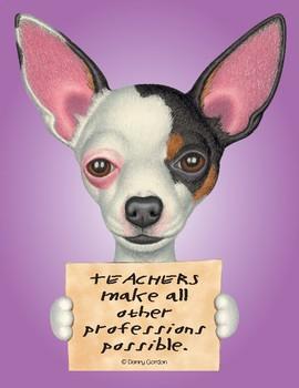 Fun Dog Poster ChiWoo4 Chihuahua