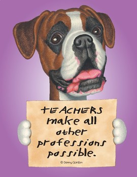 Fun Dog Poster with Quote Bruno4 the Boxer
