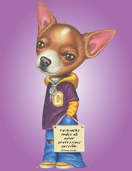 Fun Dog Poster with Quote Carlos4 Chihuahua