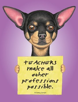 Fun Dog Poster with Quote Chico4 Chihuahua