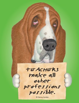 Fun Dog Poster with Quote Earl4 Bassett Hound