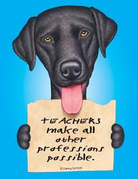 Fun Dog Poster with Quote Hunter4 Labrador Retriever